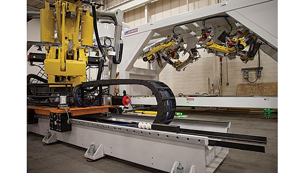 Linear Tracks Increase Efficiency Of Robotic Machine