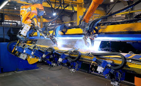Truck-body welding gets lift from tandem robots