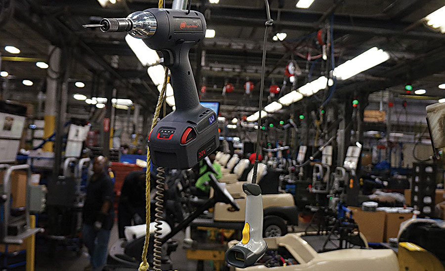 Cordless Tools Improve Quality and Ergonomics at Golf Cart Assembly Plant