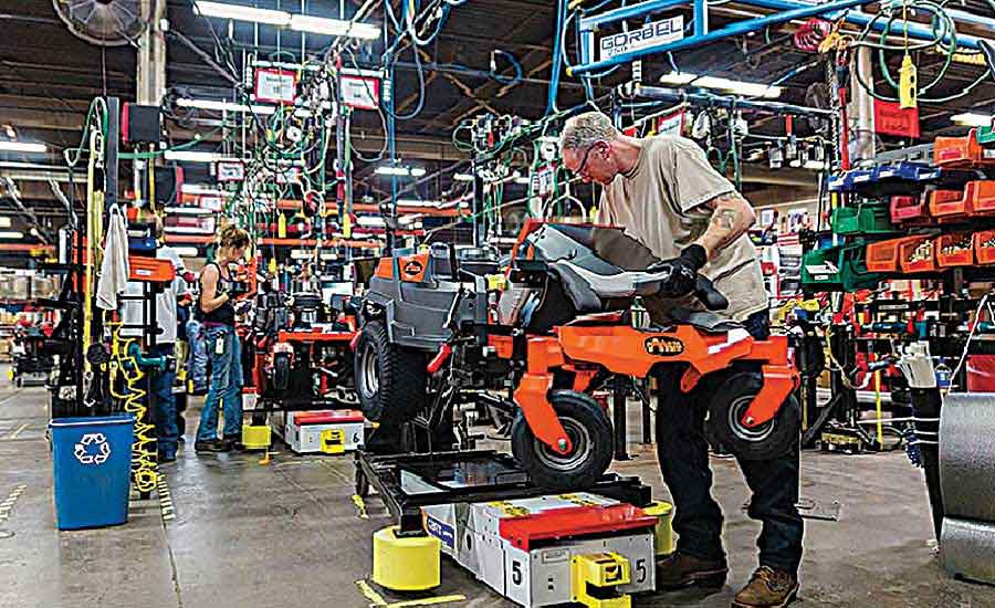 Automatic Guided Carts Boost Productivity at Ariens