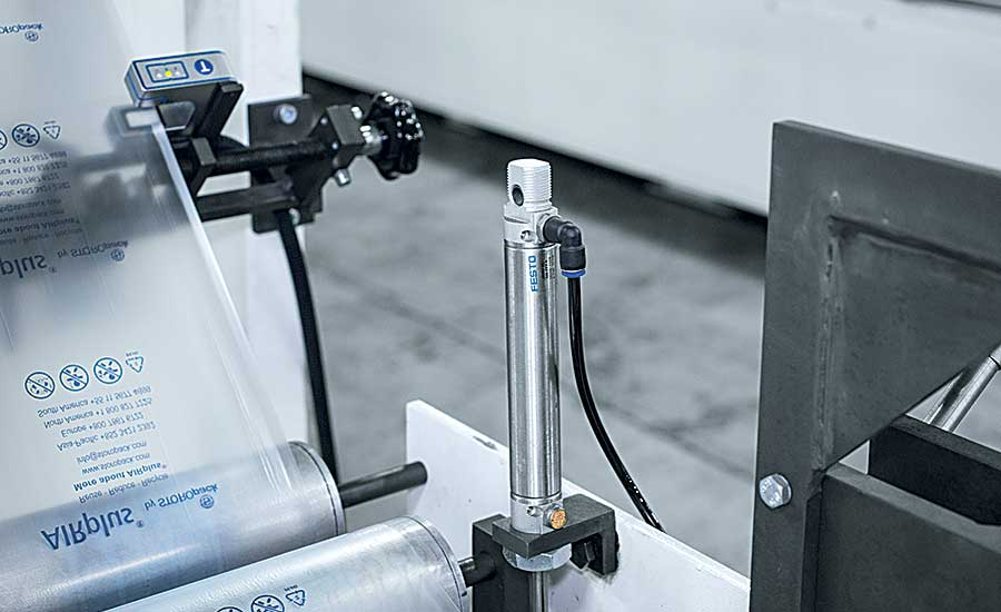 High-tech motion control aids production of protective packaging