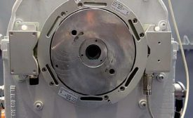 Encoder measures speed and position of ship's propeller shaft