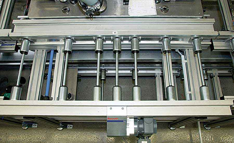 Roller Conveyor Moves Axles on Skoda Assembly Line