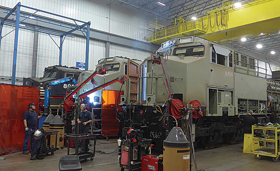 GE Stays on Track by Rebuilding Locomotives | 2018-08-01 ... on engine shed floor plans, railroad depot floor plans, trailer house floor plans, locomotive house plans, ho locomotive shed floor plans, railroad section house floor plans,