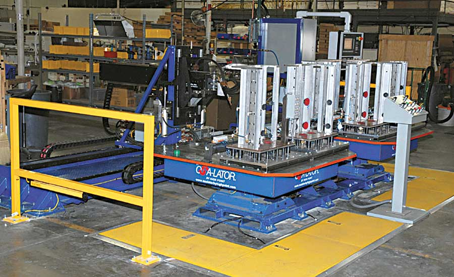 Automated Spot Welding Improves Assembly of Barbecue Grills