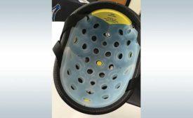 Machine Helps Make Crash Helmets Safer