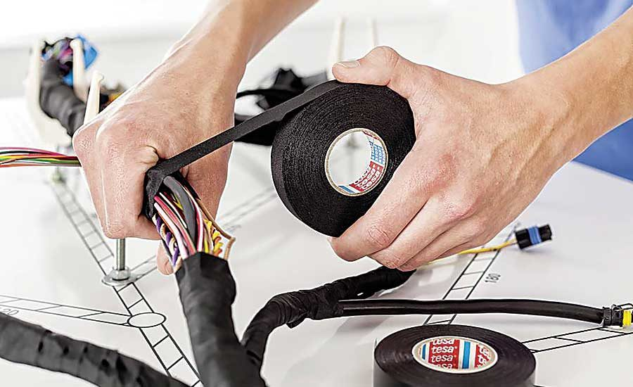 Tape for Wire Harnesses | 2019-01-15 | EMBLY Cost To Replace Wiring Harness on oxygen sensor extension harness, cable harness, pony harness, battery harness, fall protection harness, dog harness, safety harness, radio harness, amp bypass harness, electrical harness, alpine stereo harness, engine harness, nakamichi harness, maxi-seal harness, suspension harness, pet harness, obd0 to obd1 conversion harness,