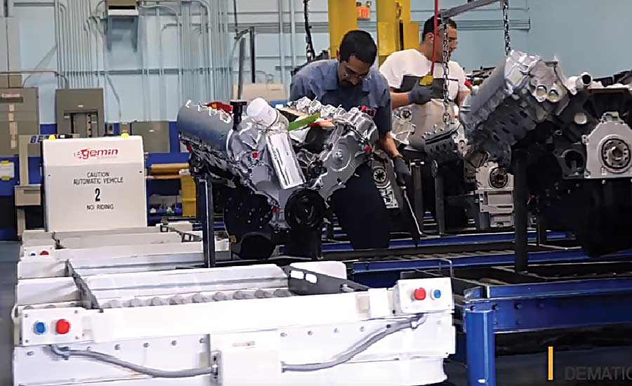 Tugger AGVs Rejuvenate AER Engine Production
