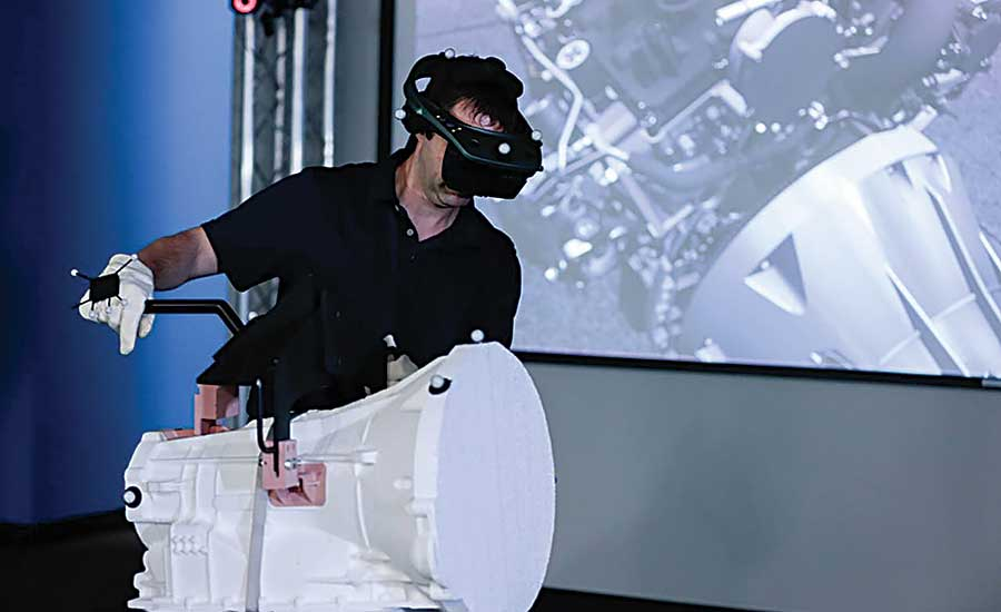 Virtual reality aids design of assembly lines