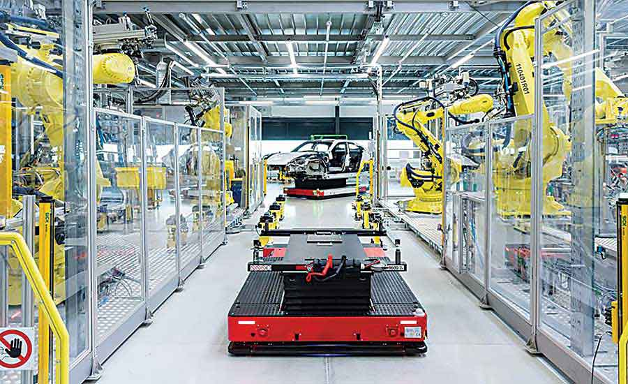 Electric vehicle makers rethink assembly processes