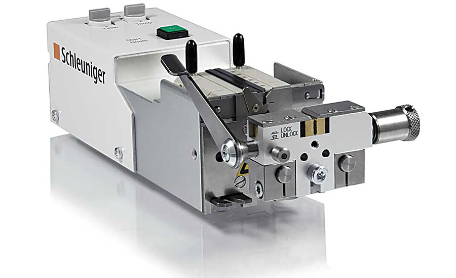 This benchtop machine is used to strip the protective covering off of optical fiber