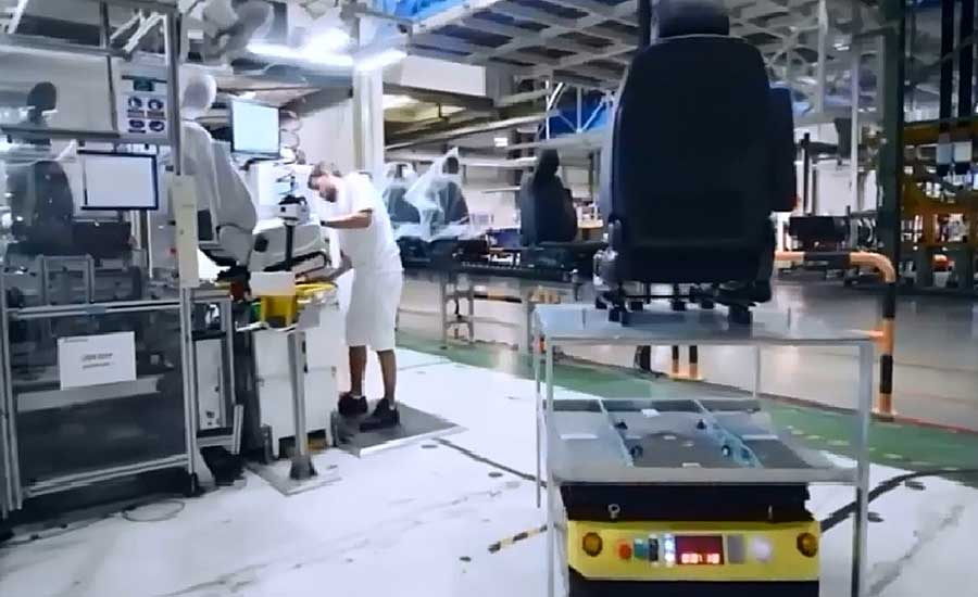AGVs Keep Seats on the Move in Faurecia Assembly Plant