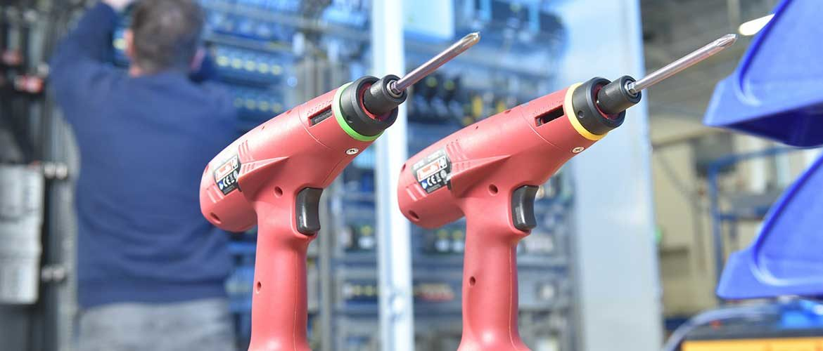 Cordless Tools Improve Ergonomics and Quality for Assembler of Electrical Equipment