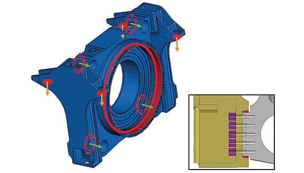 Design of turbine bearings, FEA