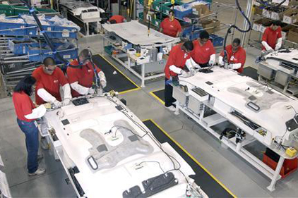 Lear assembly line