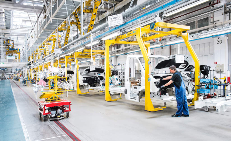 Agvs Deliver Parts To Mercedes Assembly Line 2015 06 25