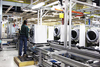 washing machine assembly line