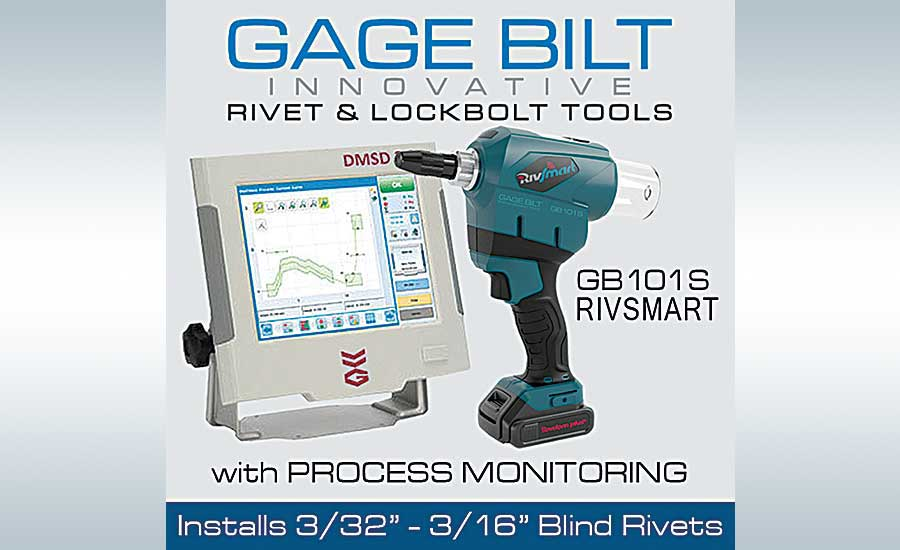 Gage Bilt's GB101S RivSmart Battery Tool With Process Monitoring