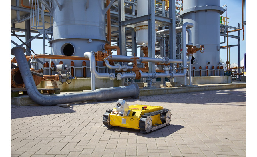 "IDS industrial cameras as ""robot eyes"" in potentially explosive environments"