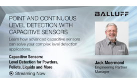 Capacitive Sensors: Level Detection for Powders, Pellets, Liquids and More