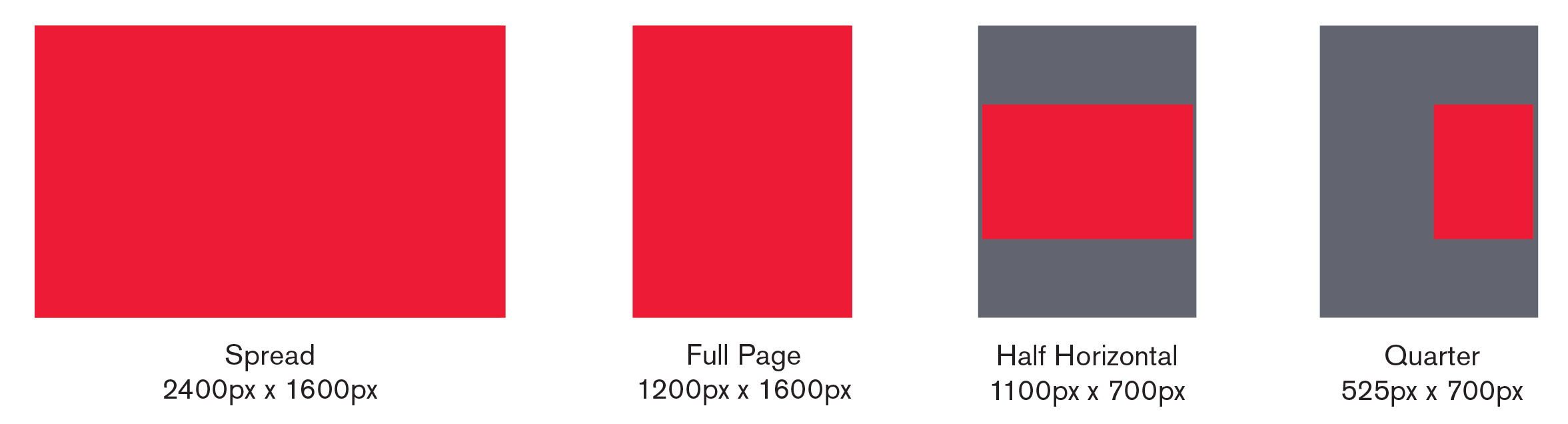 PUBLICATION AD SIZES