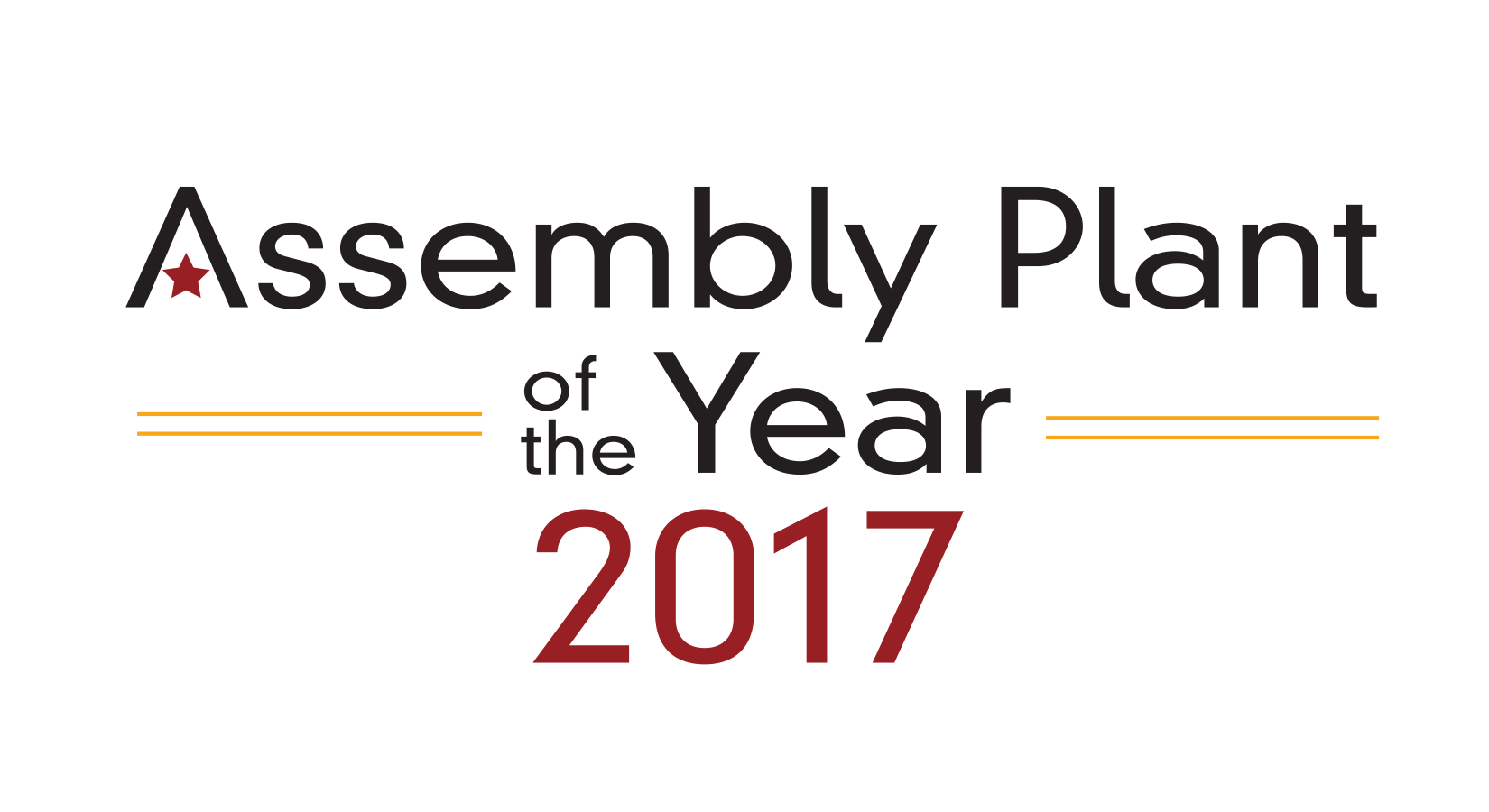 assembly plant of the year award 2017