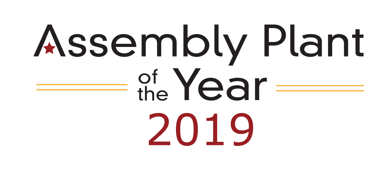 assembly plant of the year award 2019
