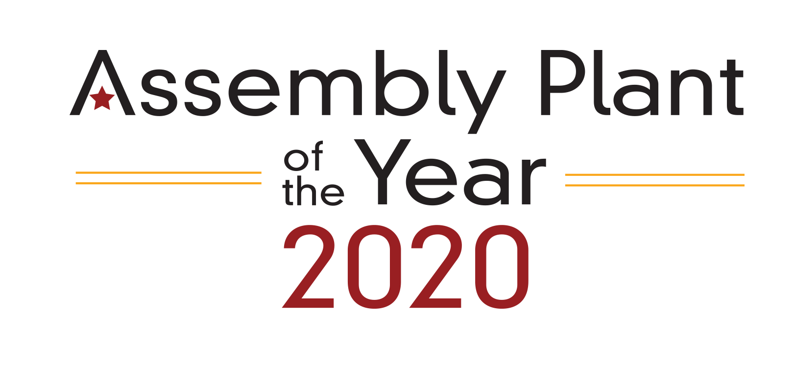 assembly plant of the year award 2020