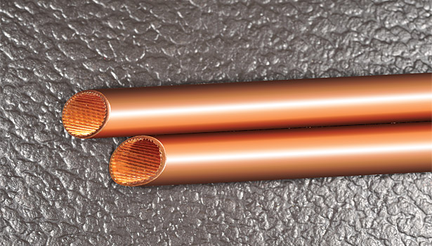 heat transfer copper tubes grooves