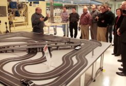 Chrysler slot car track